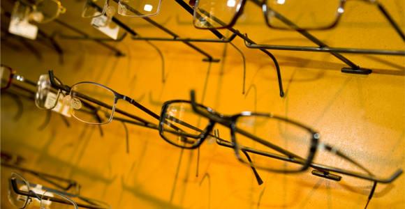 Eye Glasses On Display