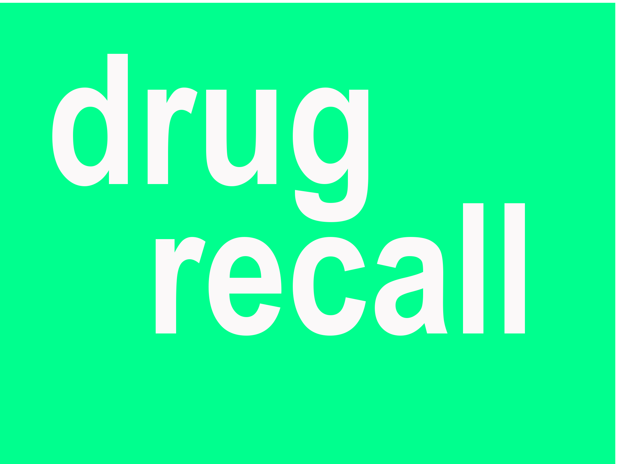 back drug used in eye recalled by FDA